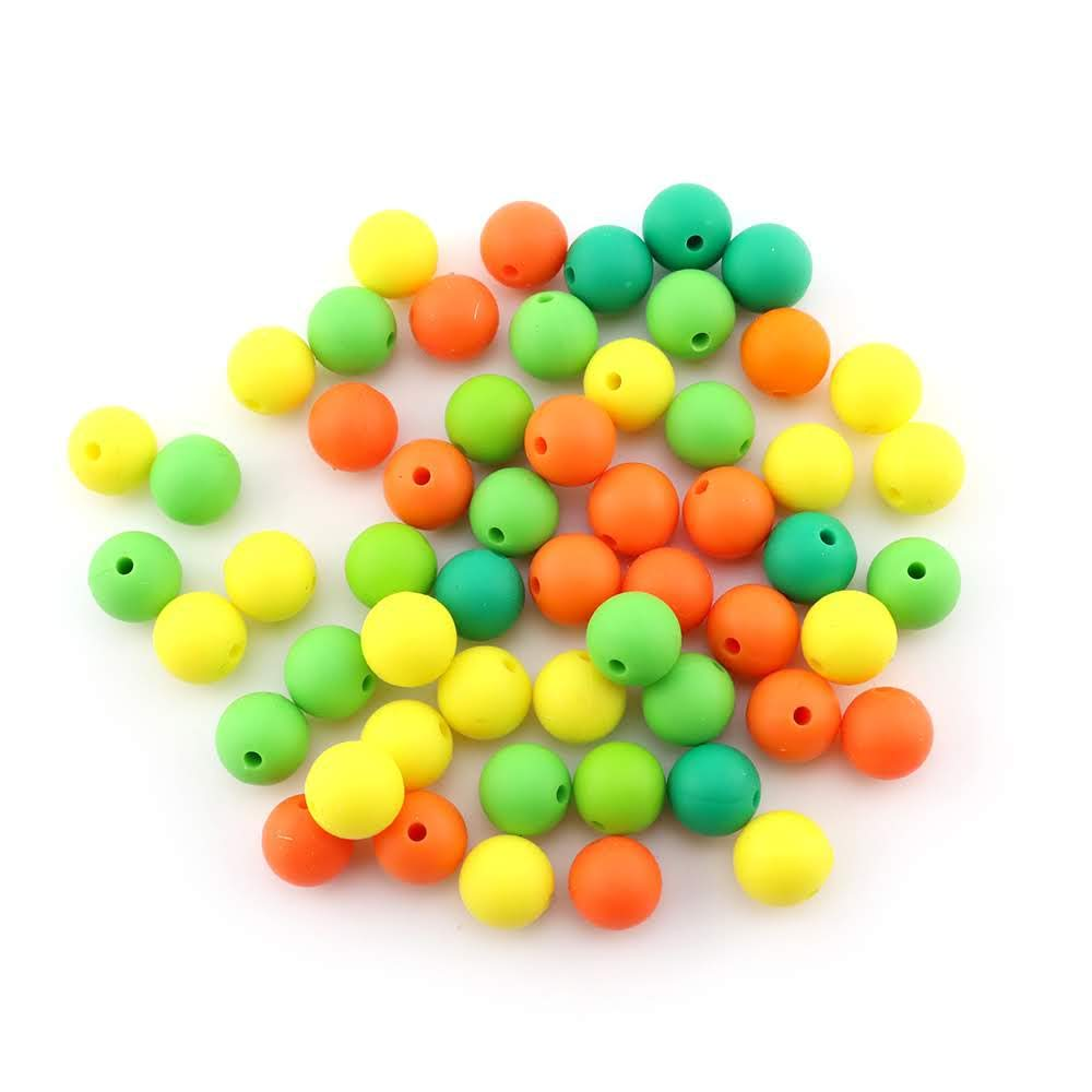 Bosque Encantado, Bolas /Ø12mm piezas de silicona alimentaria para montar chupeteros//collares//mordedor lactancia colores combinados 60 Cuentas de silicona RUBY