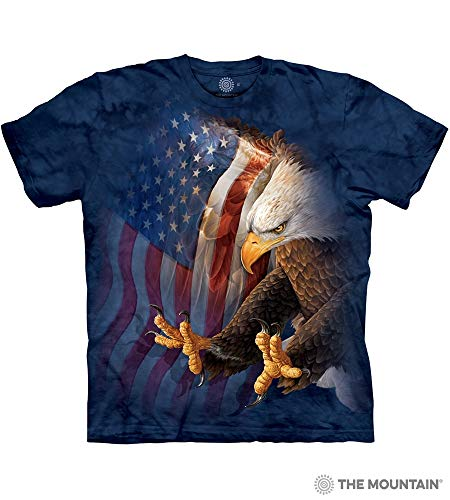 The Mountain Eagle Freedom Adult T-Shirt, Blue, 2XL ()