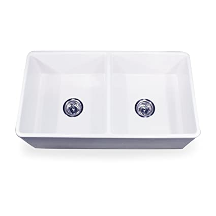 Merveilleux Nantucket Sinks T FCFS 33 DBL 33 Inch Double Equal Fireclay Farmhouse