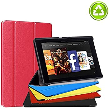 Fire HD 8 Case, Feelgo Ultra Light Slim Fit Tablet Screen Protective Stand Cover Case w/ Auto Wake/Sleep for Amazon Fire HD 8 Tablet(7th Generation,2017 Release) Red