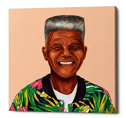 Epic Graffiti Nelson Mandela by Shimoni Illustrations Giclee Canvas Wall Art, 12