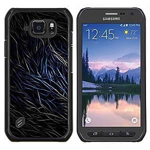 For Samsung Galaxy S6Active Active G890A Case , Resumen de pieles Líneas- Diseño Patrón Teléfono Caso Cubierta Case Bumper Duro Protección Case Cover Funda