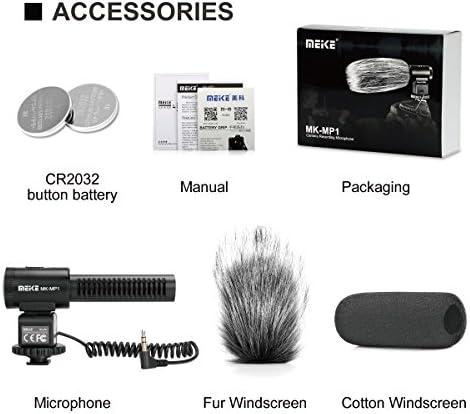 Meike – mk-mp1 Cámara escopeta micrófono cardioide condensador ...