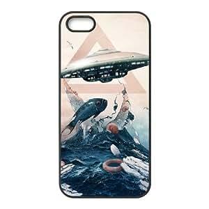 iPhone 5 5s Cell Phone Case Black UFO JSK864314