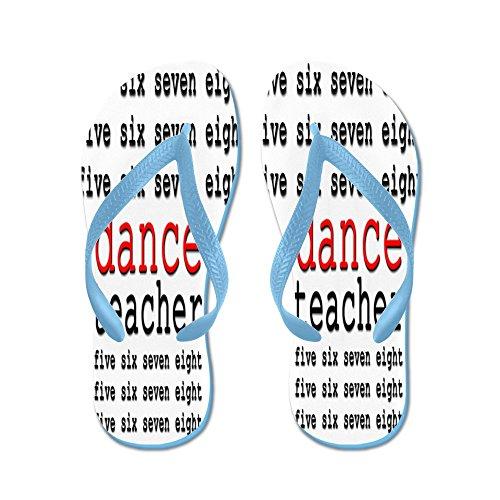 Insegnante Di Danza Cafepress - Infradito, Sandali Infradito Divertenti, Sandali Da Spiaggia Blu Caraibico