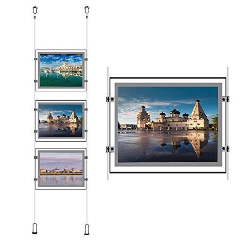 Crystal Landscape Led Poster Frame Real Estate Window Ceiling Hanging Sign Holder