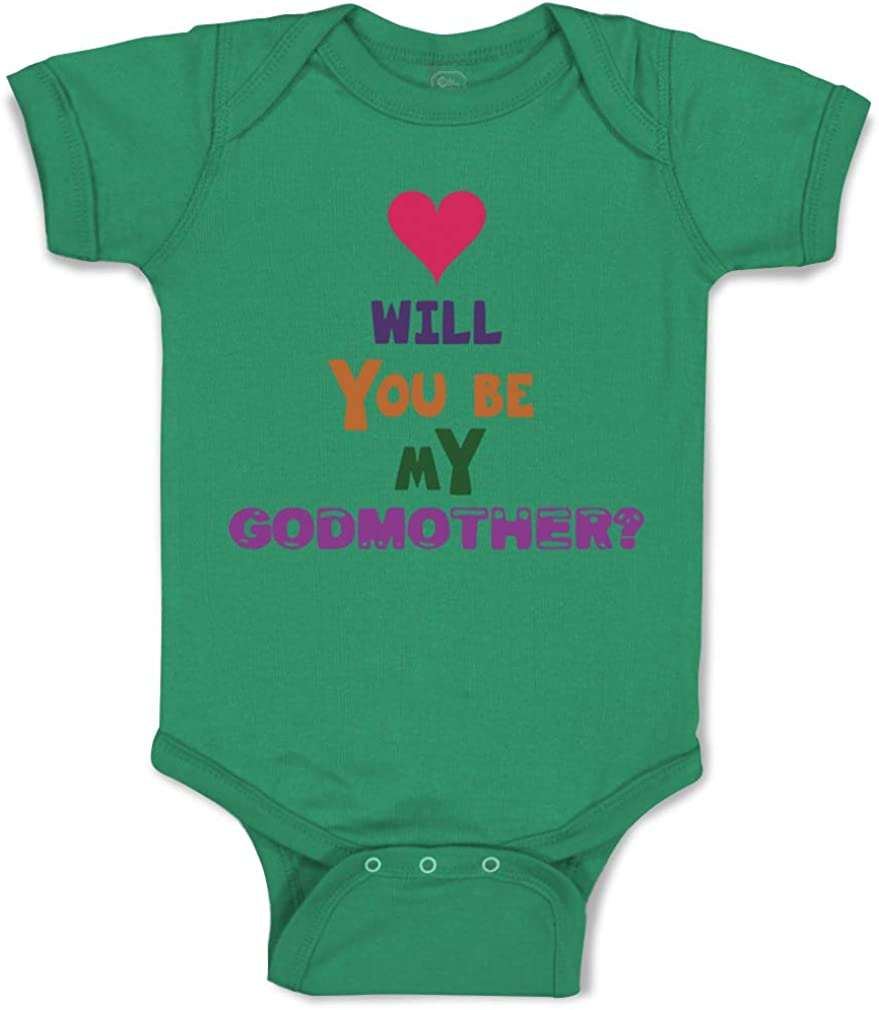 Cute Rascals Custom Baby Bodysuit Will You Be My Godmother Pregnancy Baby Announcement B
