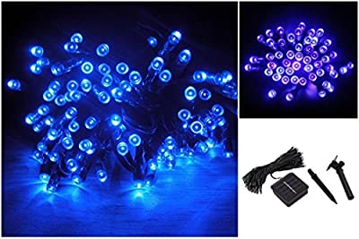 1Pc Reliable Modern 200x LED Solar Power Nightlight Home Decor Xmas Props Christmas Light Colors Blue