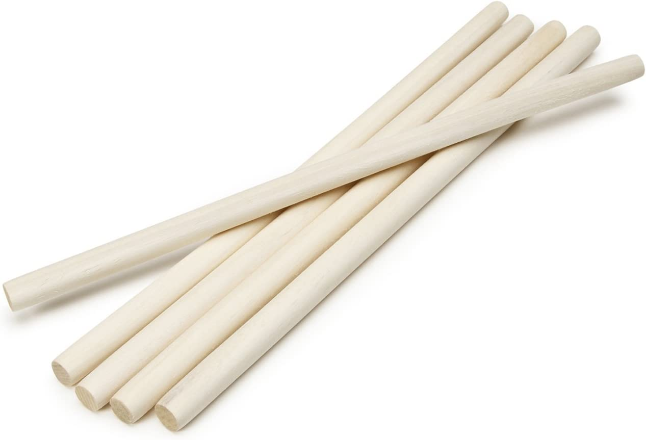 1//2-Inch Darice 9162-00 Unfinished Natural Wood Craft Dowel Rod