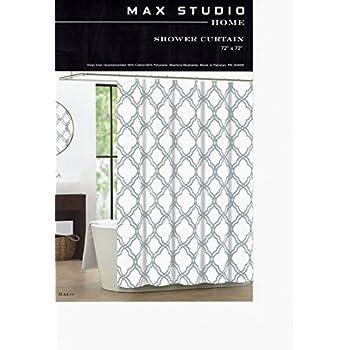 Max Studio Home Cotton Shower Curtain Moroccan