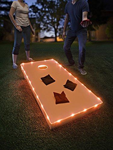 Brightz TossBrightz Cornhole/Bean Bag Game LED Lighting Kit (Lights Only, No Boards), Orange
