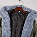Holzkary Women's Overcoat Winter Fleece Denim