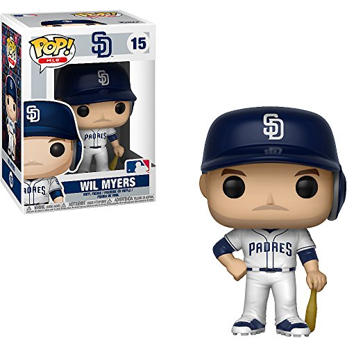 Funko Wil Myers [San Diego Padres]: x POP! MLB Vinyl Figure & 1 PET Plastic Graphical Protector Bundle [#015 / 30237 - B] ()