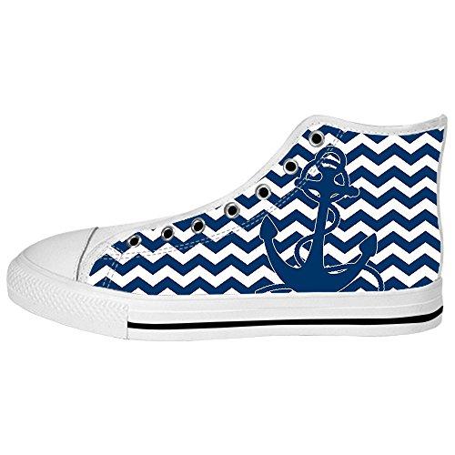 Dalliy Blau des Ozeans Anker Mens Canvas shoes Schuhe Lace-up High-top Sneakers Segeltuchschuhe Leinwand-Schuh-Turnschuhe A