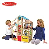 Melissa & Doug Hi-Rise Wooden Dollhouse With 15 pcs Furniture - Garage