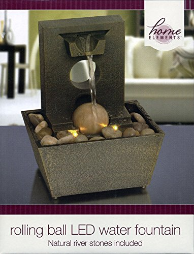 Home Elements - Rolling Ball LED Water Fountain