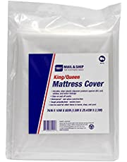 """Seal-It Mail and Ship King/Queen Mattress Cover, 76"""" x 10"""" x 92"""", Clear"""