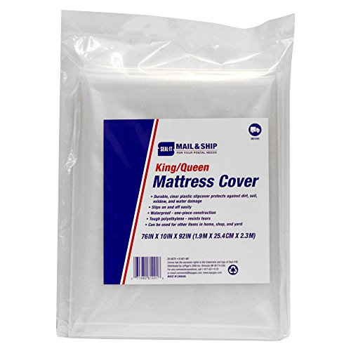 (Seal-It Mail & Ship King/Queen Mattress Cover, 76 x 10 x 92 Inches, for Moving and Storage)