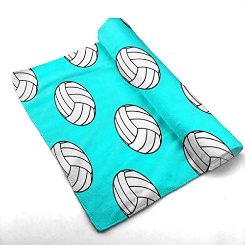 (SoR6tH Black and White Volleyball Balls Custom Towels/Hand Face Towel for Beach, Pool Or Bath Unisex)