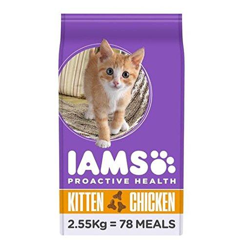 IAMS Kitten y 2.55kg Pollo Junior Pienso para Gatos: Amazon.es: Jardín