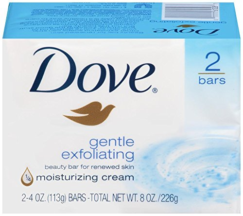 Dove Beauty Bars, Gentle Exfoliating, 2 ct (Dove Gentle Exfoliating Body Wash)
