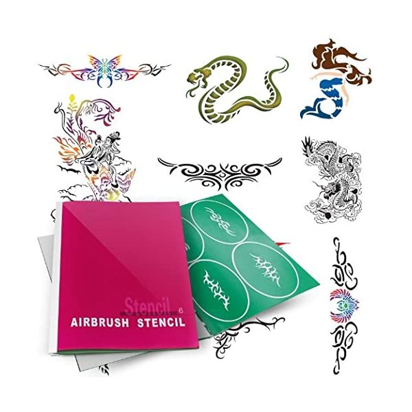 Airbrush-Tattoo-Stencils-Book-Reuseable-Tattoo-Template-Set6-10-6