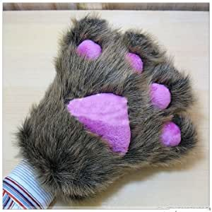 animal gloves bear paw winter hand gloves. Black Bedroom Furniture Sets. Home Design Ideas