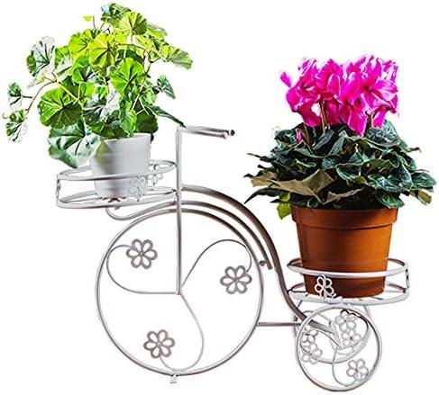 フラワースタンド、錬鉄製のフラワースタンド、フロアスタンド、自転車植木鉢スタンド、友人へのプレゼント、リビングルームの内側と外側のバルコニー