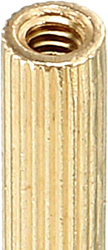 uxcell 50pcs M2 20 3mm Male Thread Brass Round Standoff Spacer Screw PCB Pillar