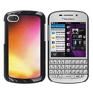 TopCaseStore / la caja del caucho duro de la cubierta de protección de la piel - Neon Galaxy - BlackBerry Q10