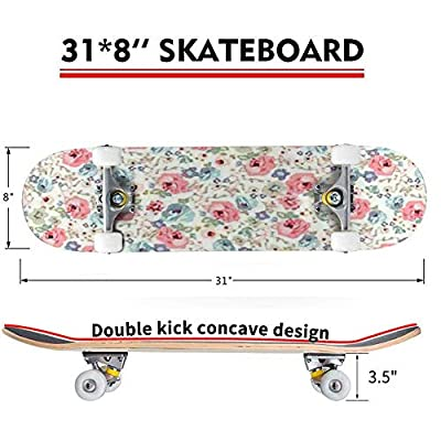 Seamless Flower Pattern Vector Illustration Outdoor Skateboard 31