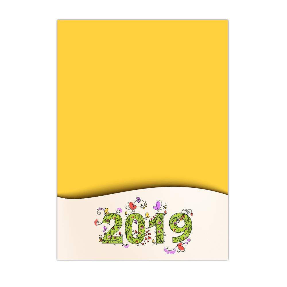 Grußkarte 2019 personalisierbar – 32 32 32 Karten – Glückwunschkarte auf gelbem Hintergrund – Dispo in 3 Formaten Carte pliée - 14 cm x 19,5 cm B07KQX9RXZ | Abgabepreis  2fc03b