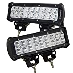 Willpower 2PCS 9″ Inch 54W Spot Led Work Light Bar 5400LM 10-30V for Heavy Duty Off-road Vehicle Pickup Jeep 4×4 4WD Car SUV Truck Boat