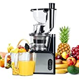 Aobosi Slow Juicer Masticating Juicer 80mm(3.15inch) Wide Mouth Juice Extractor Cold Press Juicer Quiet Motor High Nutrient Fruit & Vegetable Juice with Juice Jug & Cleaning Brush