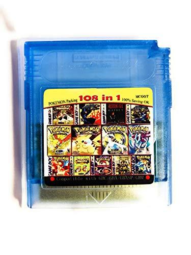 Mega Snow - 108 in 1 Game Boy COLOR GBC Multi Cart Pokemon / kof 95 / Mega Man / Snow Bros.