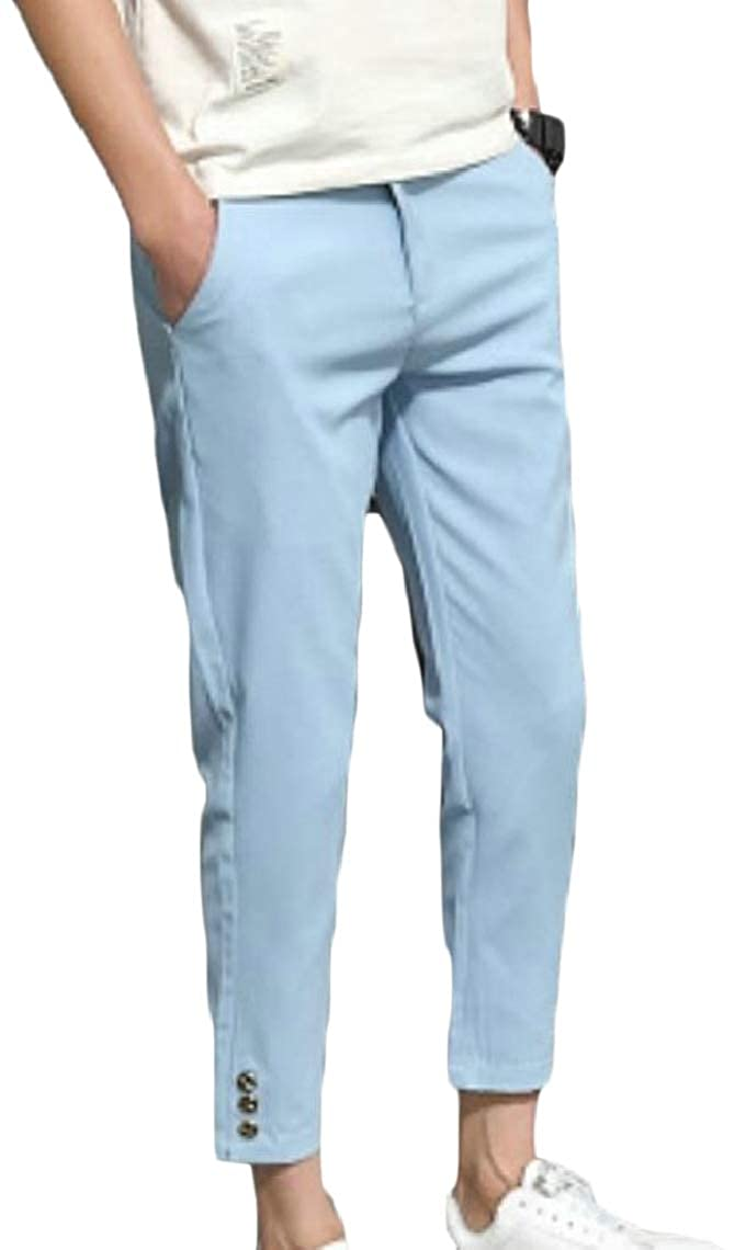 Mens Stretchy Skinny Fit Fashionable Comfy Slim Capri Pants