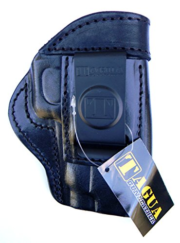 TAGUA BLACK RIGHT HAND SIDE Leather In/Inside the Pants Reinforced Mouth Holster for 4