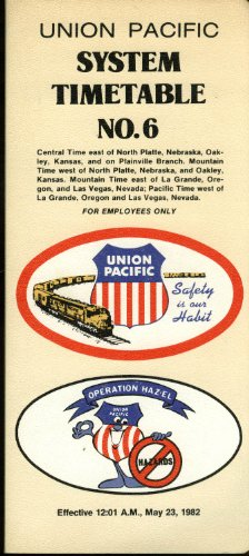 Union Pacific System Employee Timetable #6 1982