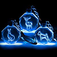 Receive 1 of 8 Crystal Patronus Key Rings with LED Blue Light Series 1 Collect All 8 Harry Potter Patronus Collectible Key Chain Mystery Blind Box