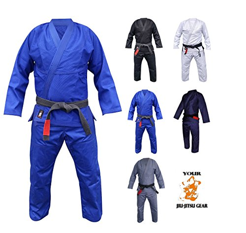 Your Jiu Jitsu Gear Brazilian Jiu Jitsu Premium 450 Blue BJJ Uniform A3