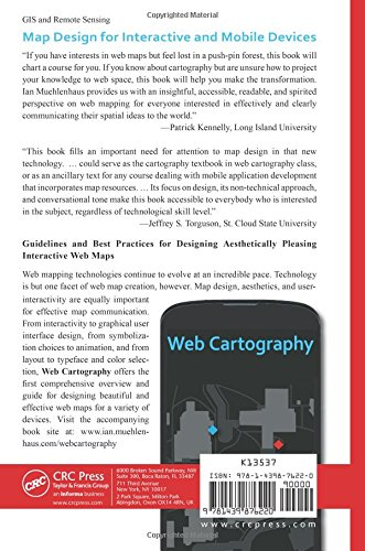Web Cartography Map Design For Interactive And Mobile Devices Ian Muehlenhaus 9781439876220 Books Amazon Ca