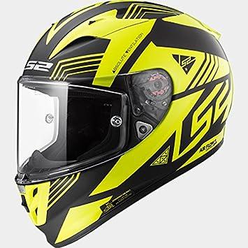 LS2 FF323 Flecha R EVO Neon Casco de Moto de Cara Completa Cascos Integrales - Negro