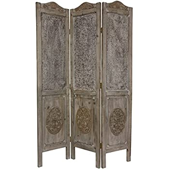 Oriental Furniture 6 Ft. Tall Closed Mesh Design Room Divider