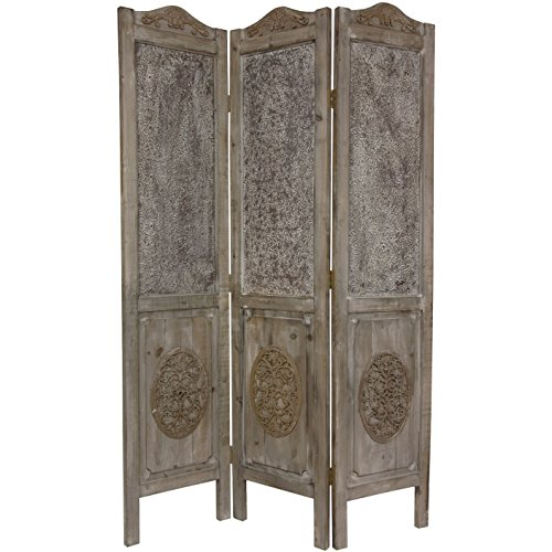 - Oriental Furniture 6 ft. Tall Closed Mesh Design Room Divider