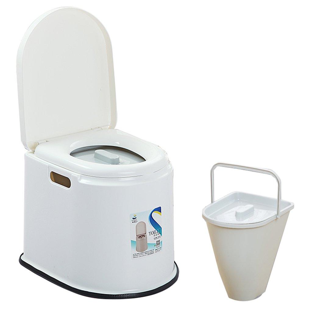 トイレチェアポータブルノンスリップトイレトイレ旅行キャンプハイキングピクニックアウトドア (色 : 白) B07CXBJKG9 白 白