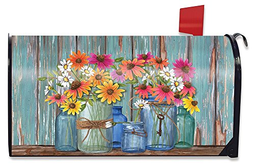 Farm Fresh Flowers Spring Magnetic Mailbox Cover Floral Standard Briarwood Lane (Magnetic Mailbox Covers)
