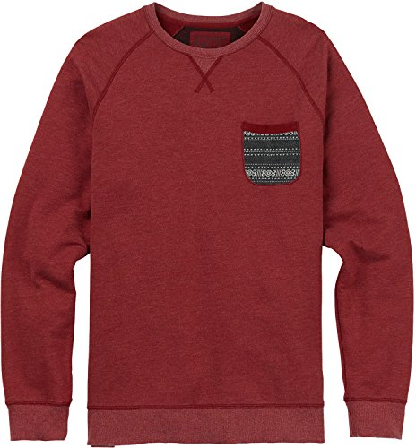 Burton Men's Subvert Crew Sweater, Wino, Large (Crew Burton Sweater)