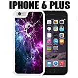 iPhone Case Cracked Screen Prank for iPhone 6 PLUS Rubber White