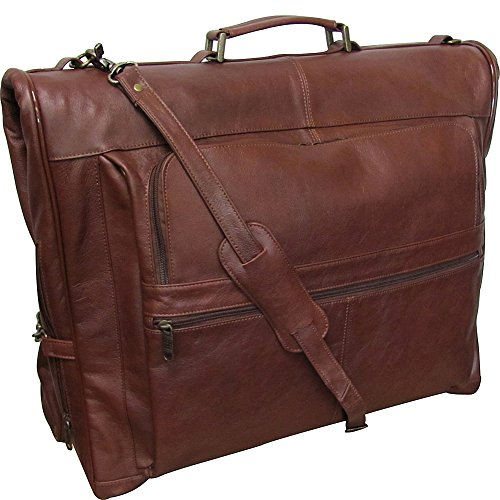 AmeriLeather Leather Three-suit Garment Bag (Vintage Terazzo Brown) by Amerileather