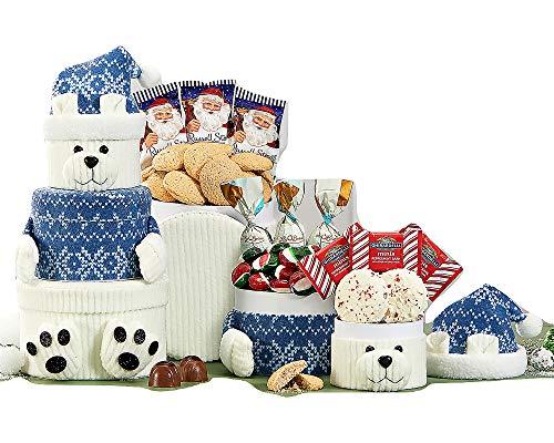 Crush Chocolate Wine - Polar Bear Oreo and Candy Gift Tower